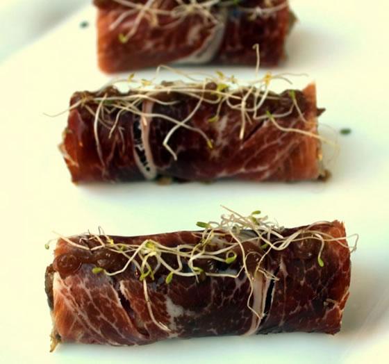 Vista 1 du assiette de rouleau de jambon ibérique